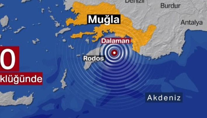 SON DAKİKA: Akdeniz'de 5 büyüklüğünde deprem