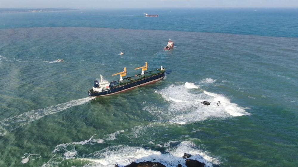 Riva'da sürüklenen kargo gemisi kurtarıldı - 5