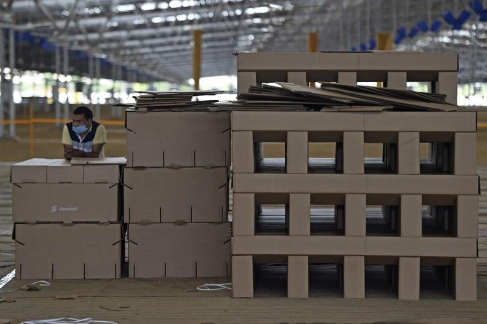 Hindistan'da Covid-19'a karşı karton yatak çözümü - 2