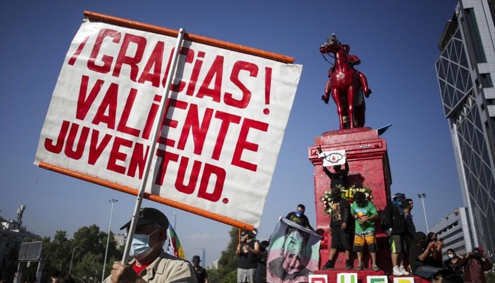 Şili'deki protestoların yıldönümü yaklaşırken sokaklarda tansiyon artıyor - 3