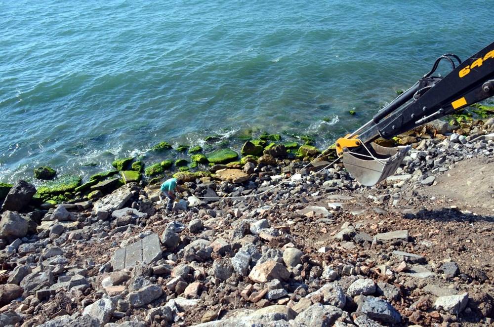 Deniz kenarında tarihi eser bulundu - 2