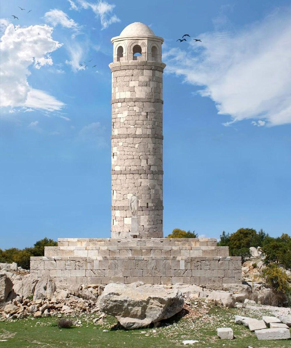 Tarihi Patara Deniz Feneri orijinal taşlarla yeniden ayağa kaldırılıyor - 7