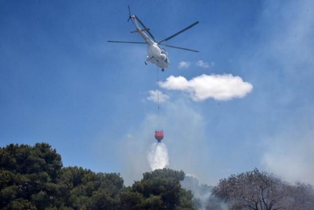 Antalya'da korkutan yangın: Kum taşıdılar - 13