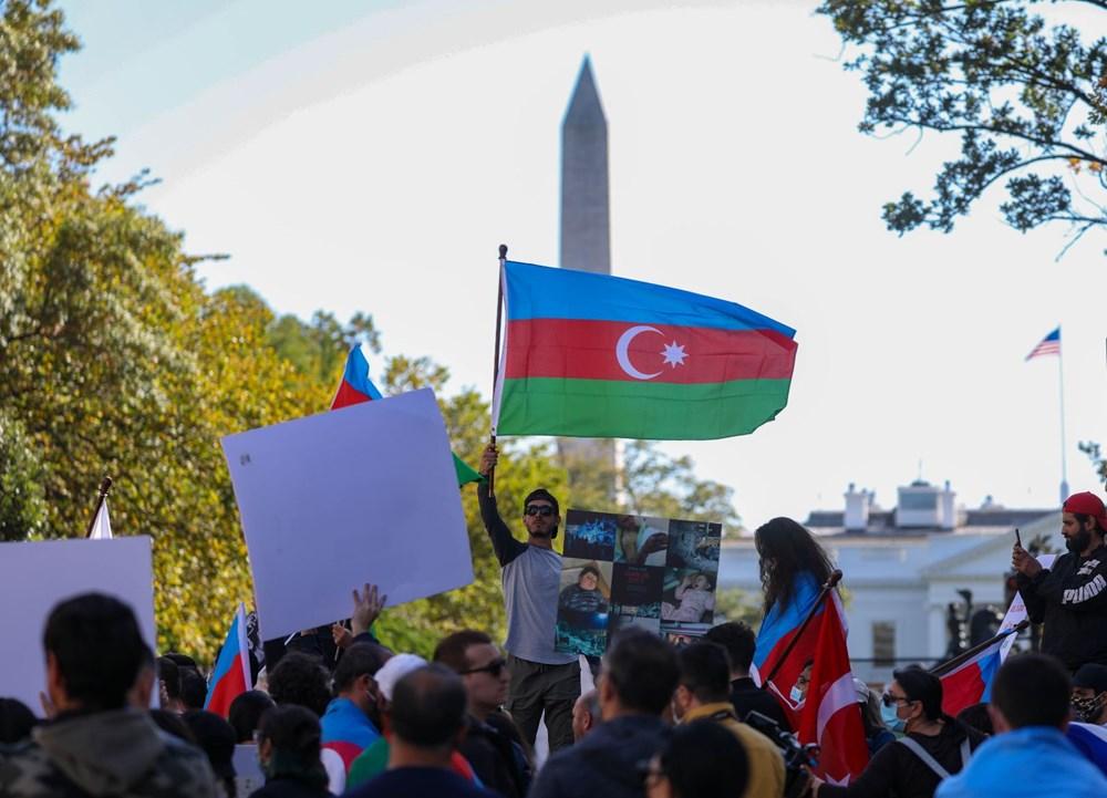 Beyaz Saray önünde Azerbaycan'a destek mitingi düzenlendi - 19
