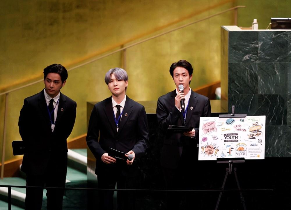 BTS grubu Birleşmiş Milletler Genel Kurulu'nda konuştu - 4