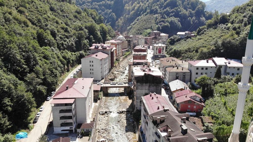 Trabzon'da tedirgin eden görüntü: Giresun'un Dereli ilçesi gibi sel riski taşıyor - 14
