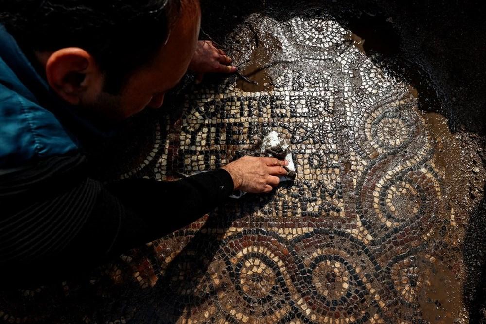 İzmir'de kaçak kazı sırasında manastır ve 1500 yıllık mozaik bulundu - 3