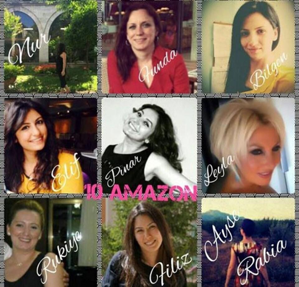 """""""10 Amazon Yüksek Doz Yaşam"""" kitabında yer alan yazarlar"""