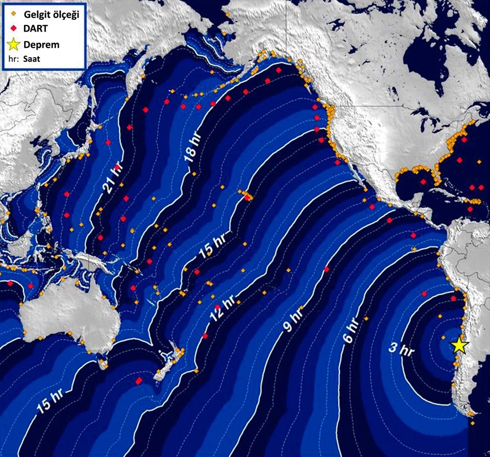Tehlike oluşturabilecek tsunami dalgaları