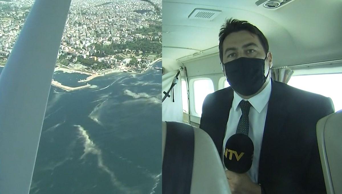 NTV ekibi müsilaj denetimi yapan uçakta