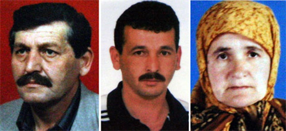 Yusuf Toprak (solda), oğlu Selahattin Toprak (ortada) ve (64), eşi Fatma Toprak hayatını kaybetti.