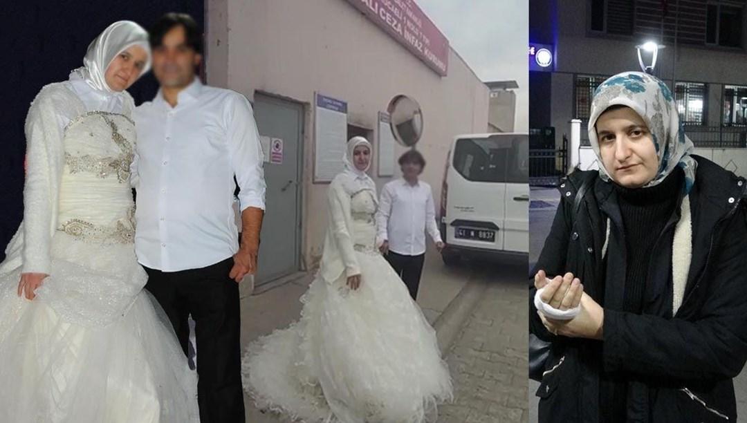 Kocaeli'de 11 gün önce cezaevinin kapısında gelinlikle karşıladığı dini nikahlı eşinden şiddet gördü