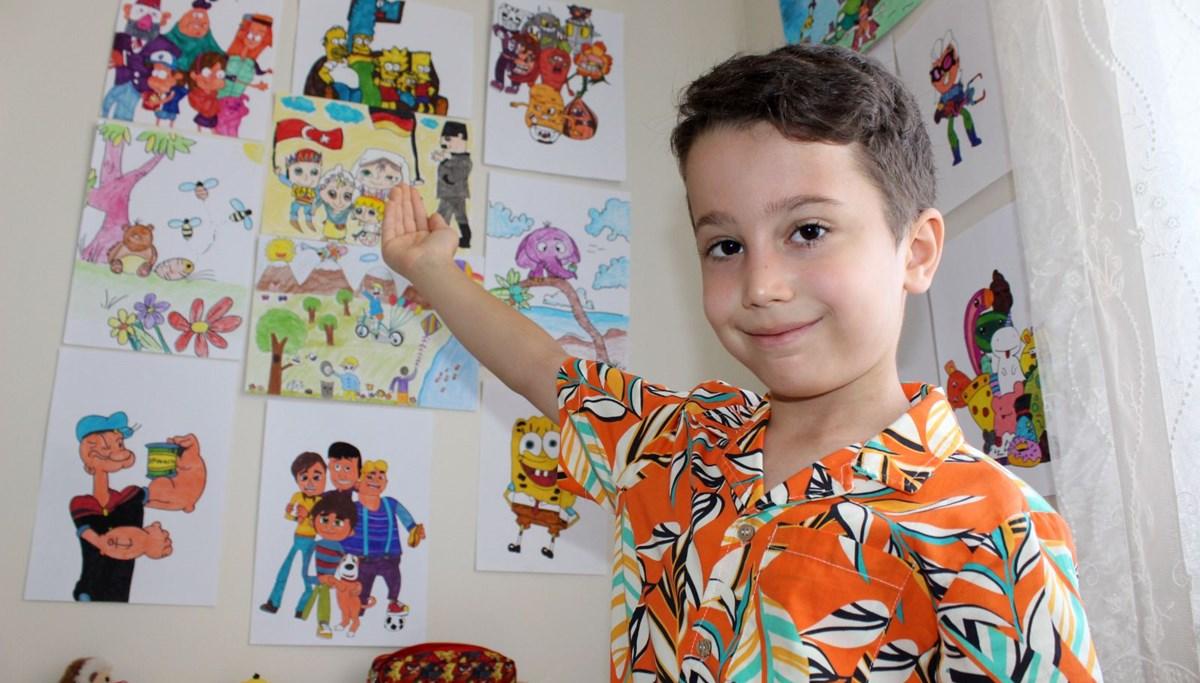 3 yaşında karikatür çizmeye başladı, yurt dışından eğitim teklifi aldı