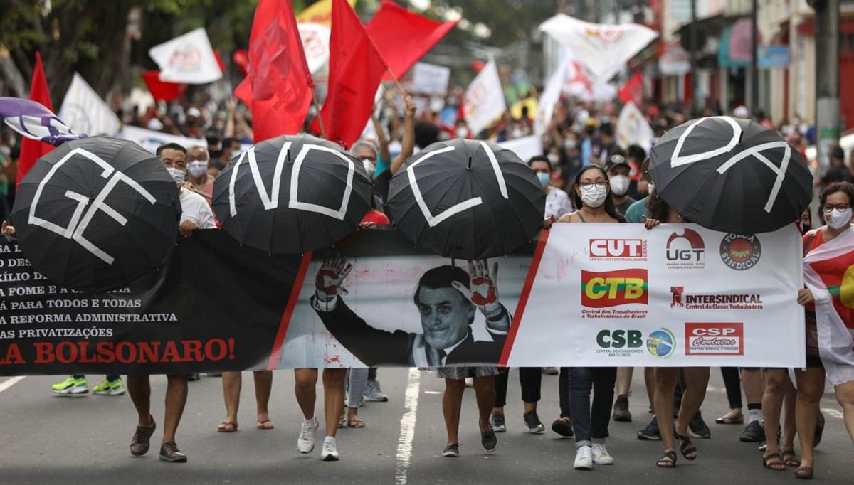 Brezilya'da Bolsonaro karşıtı gösteri