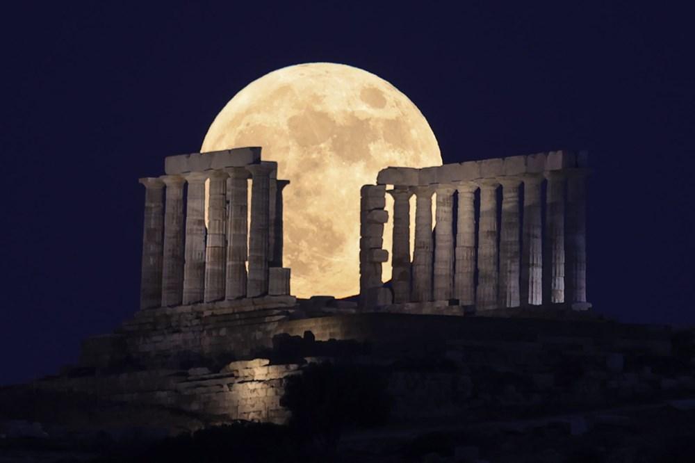 2021'in son Süper Ay'ı, Çilek Ay Tutulması gerçekleşti: Türkiye'den ve dünyadan manzaralar - 4