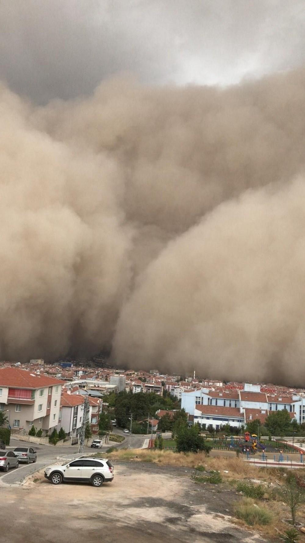 Ankara'da kum fırtınası: Polatlı'yı toz bulutu kapladı - 10