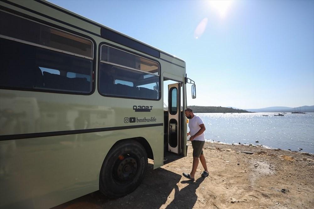 İş seyahatlerinden sıkılınca otobüsü eve çevirdi - 17