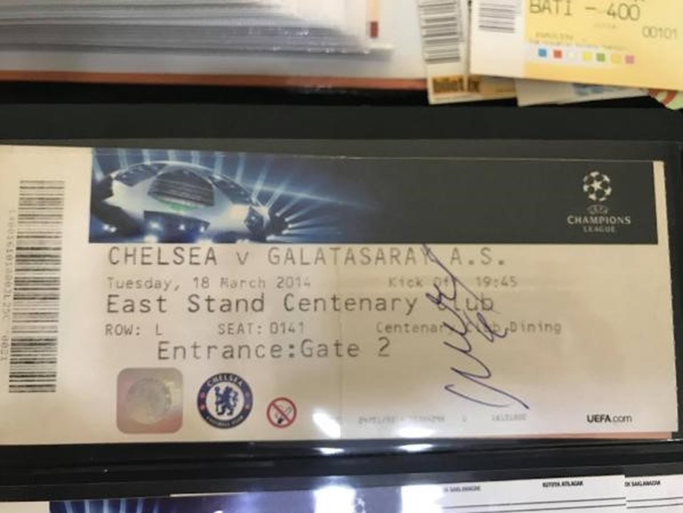 Drogba imzalı Galatasaray-Chelsea maçı bileti