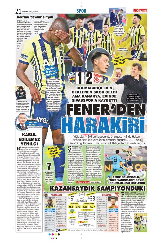 Günün spor manşetleri (12 Mayıs 2021) - 12