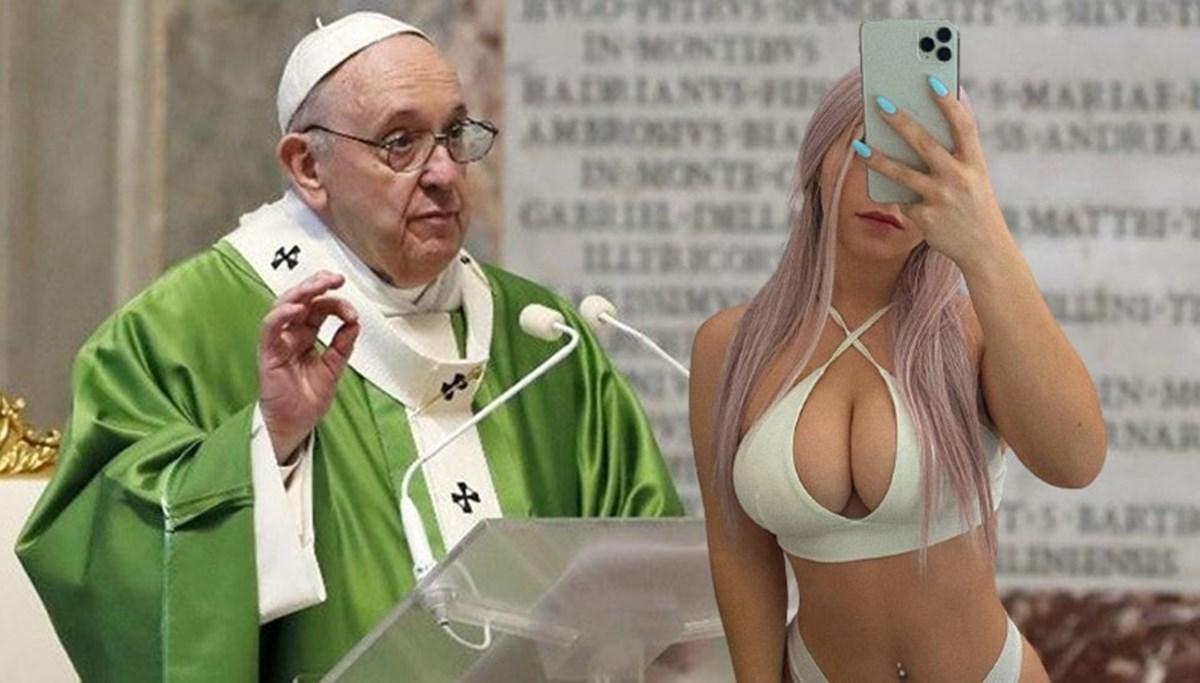 Papa'nın hesabından model Margot Foxx'un da fotoğrafı beğenildi: Cennete gideceğim