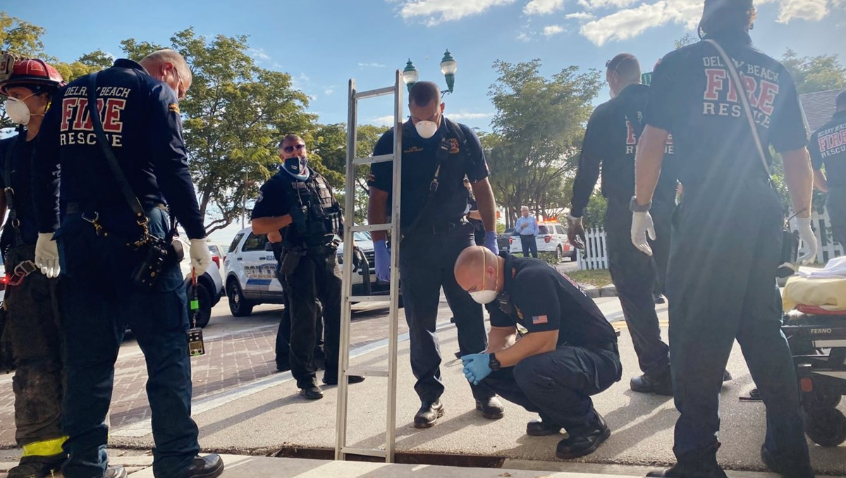 Woman trapped in sewer was saved in the USA