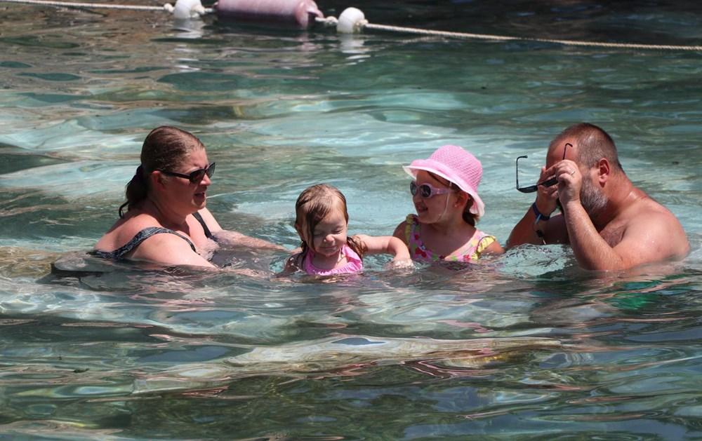 Kleopatra'nın da yüzdüğüne inanılan 2 bin 500 yıllık antik havuza yoğun ilgi - 6
