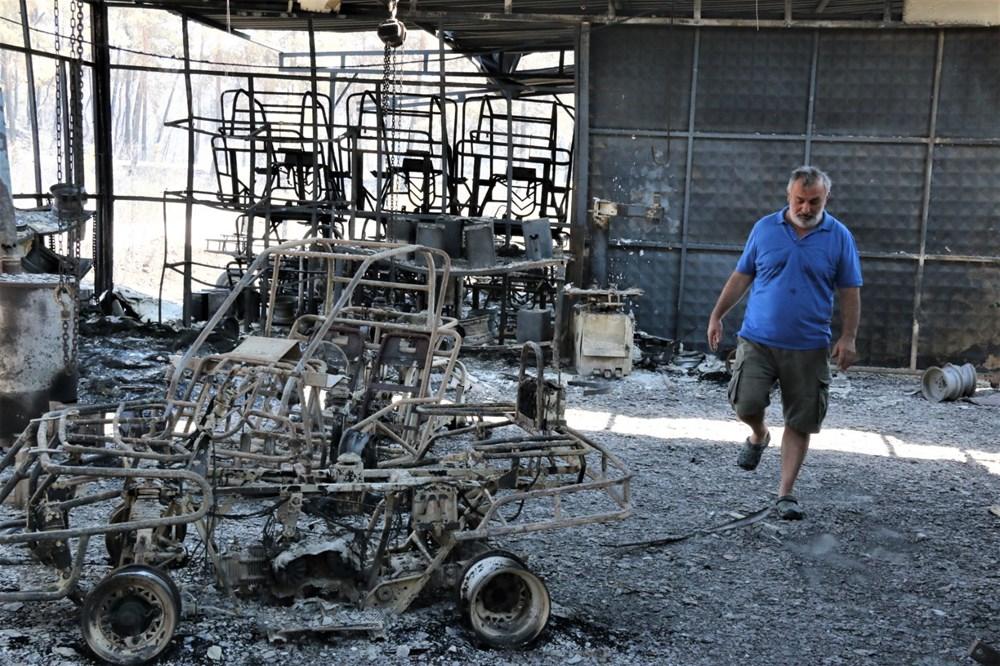 Manavgat'ta safari tesisi küle döndü, alevlerin arasında kalan işletme sahibi ölümden döndü - 3