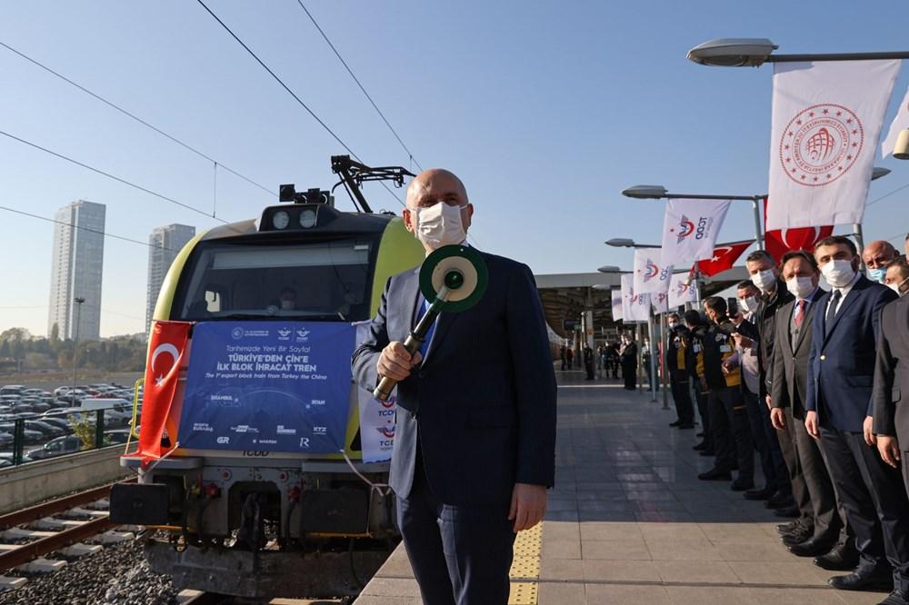 Türkiye'den Çin'e gidecek ilk ihracat treni İstanbul'dan uğurlandı - 6