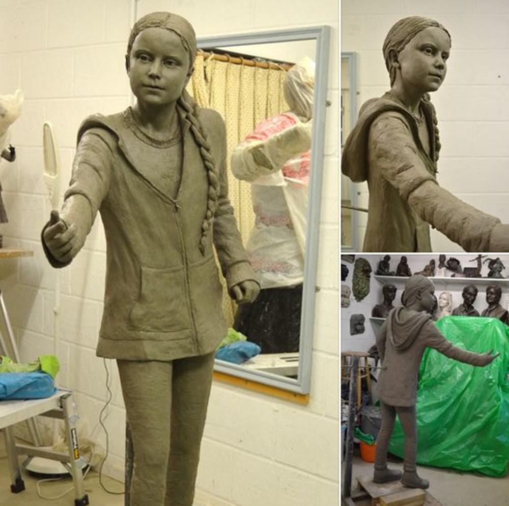 Greta Thunberg'in gerçek boyutlu heykeli tartışma yarattı - 3