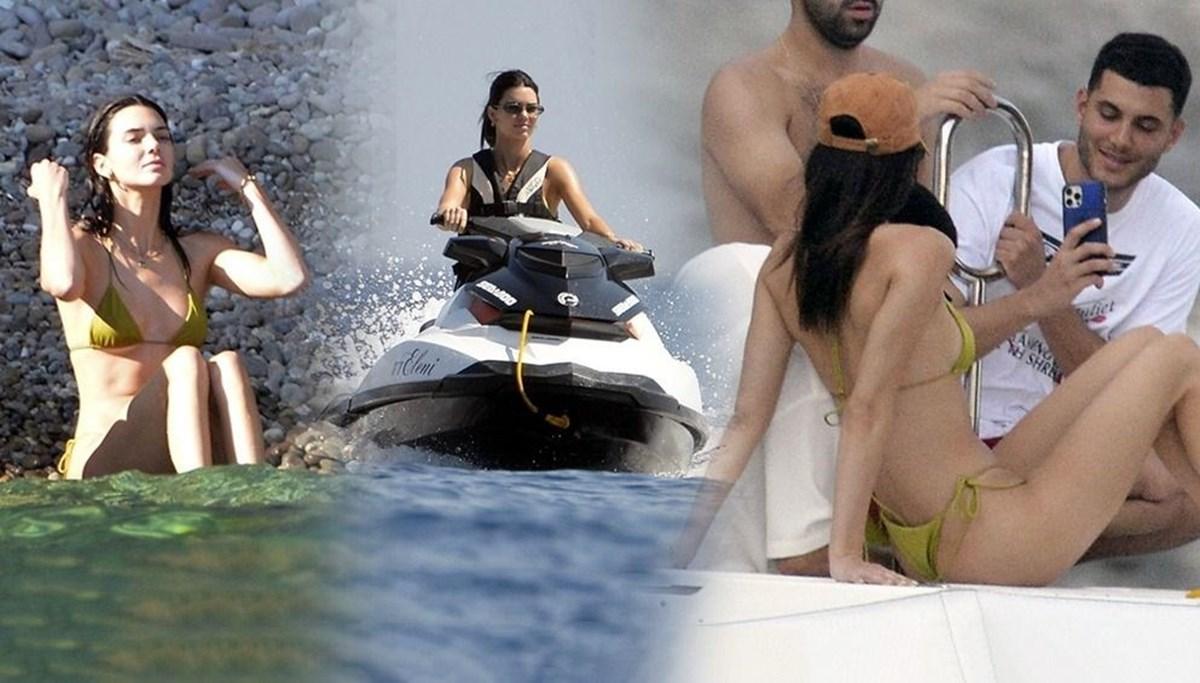 Kendall Jenner ile Devin Booker tatilde