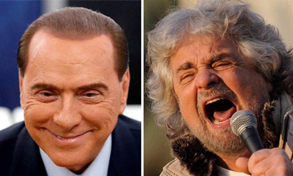 Berlusconi ve Grillo