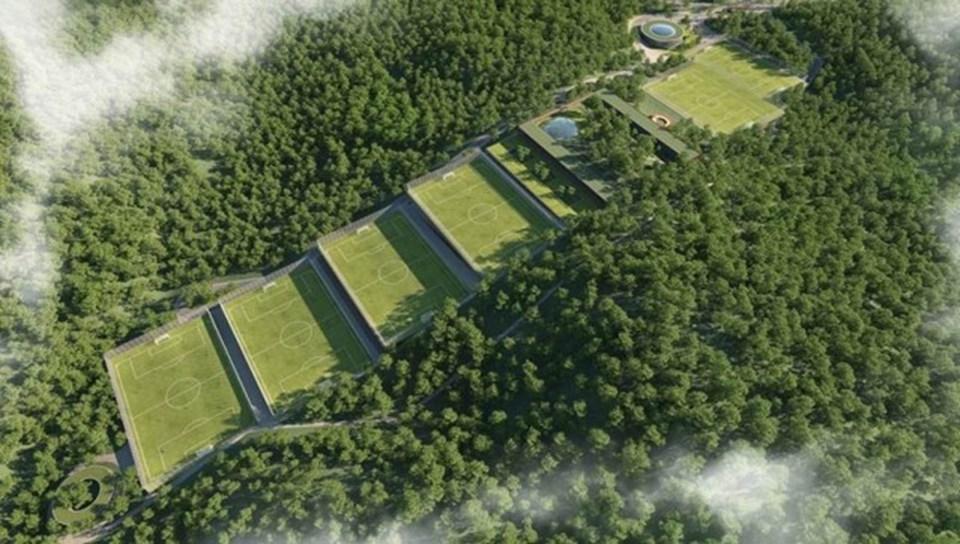 Kemerburgaz'a yapılacak tesisin projesi...