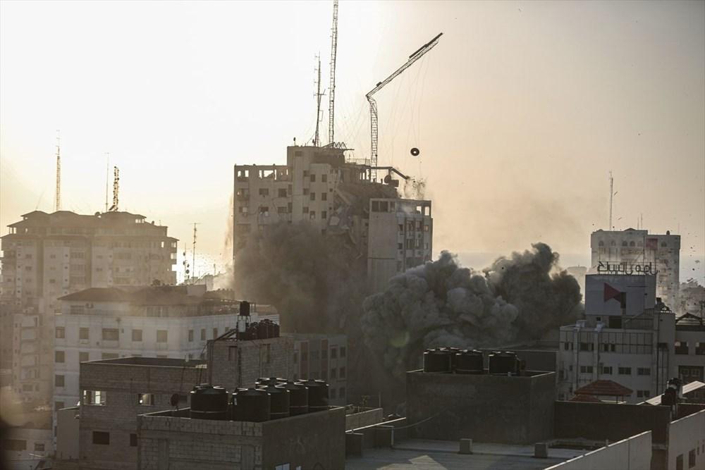 İsrail, Gazze'de sivillerin bulunduğu 14 katlı binayı vurdu - 3