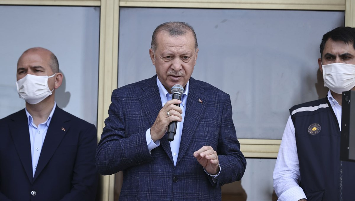 Cumhurbaşkanı açıkladı: Selden etkilenen yerler afet bölgesi ilan edildi