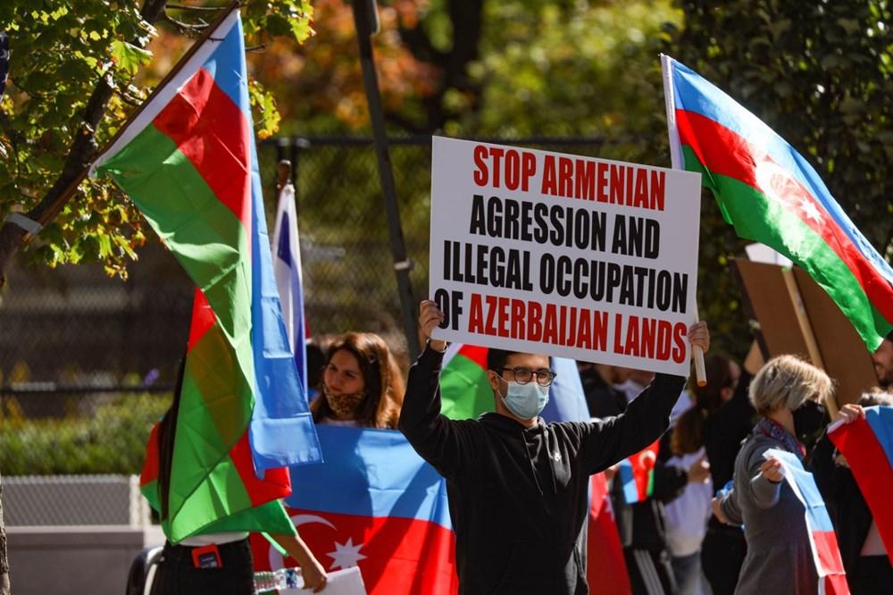 Beyaz Saray önünde Azerbaycan'a destek mitingi düzenlendi - 14