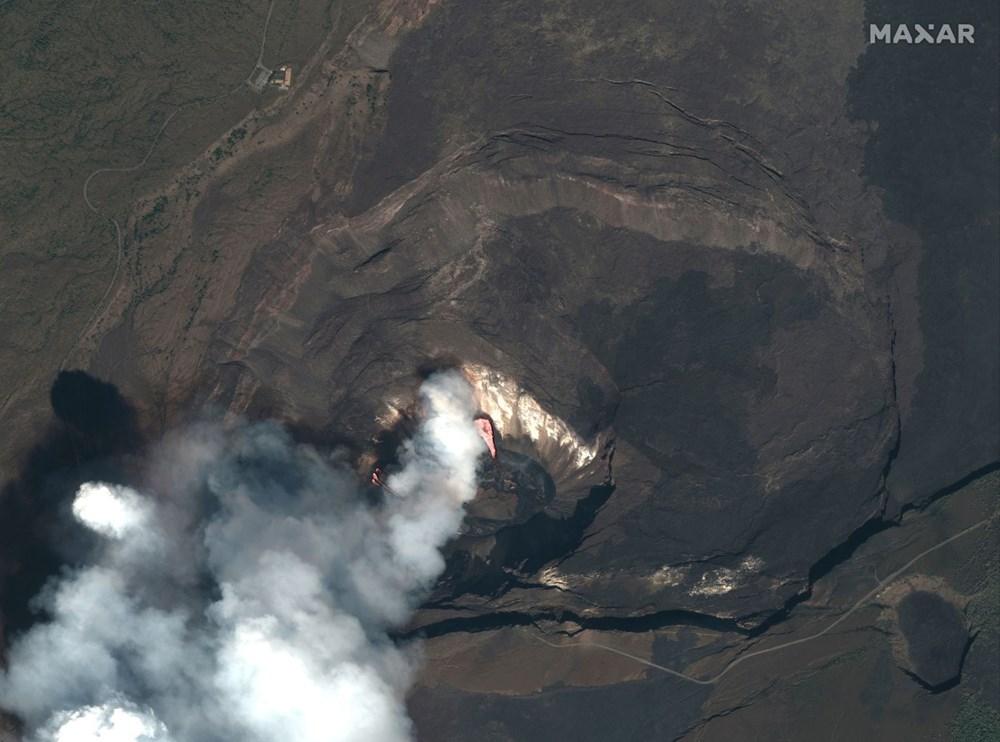 Kilauea Yanardağı'nda patlamaları: Krater gölü buharlaştı - 9