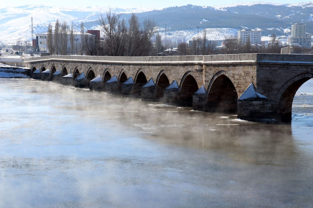 Türkiye'nin en soğuk yeri Sivas Altınyayla oldu, Kızılırmak kısmen buz tuttu - 16