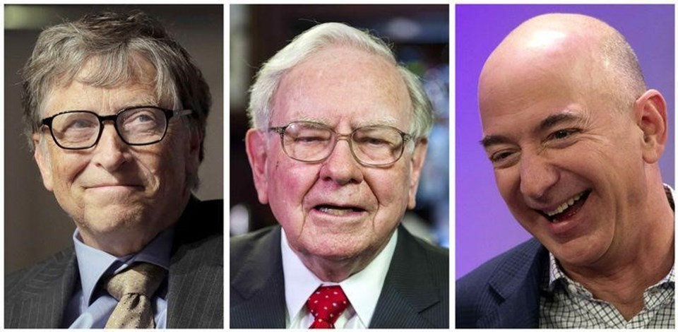 Bill Gates, Warren Buffett ve Jeff Bezos