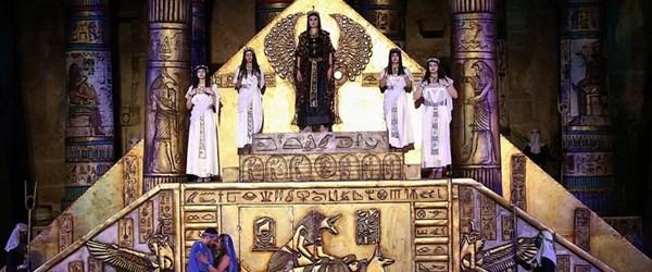 Aspendos Antik Tiyatrosu'nda Aida operası sahnelendi