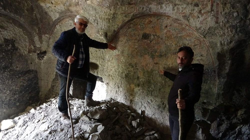 Kayalar oyularak yapılan Pedromida Kilisesi definecilerin hedefi haline geldi - 4