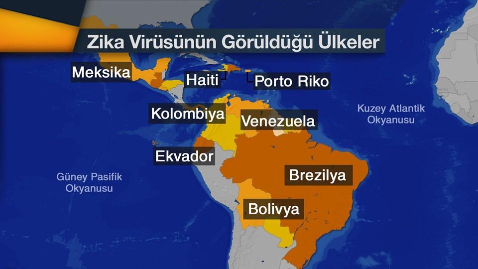 Yeni doğan bebeklerde beyin hasarına neden olan Zika virüsü Amerika kıtasında 21 ülkede görüldü. Zika virüsünden en fazla etkilenen ülke ise Brezilya. Brezilya zika virüsünü yayan sivrisinekle mücadele için 220 bin askeri görevlendireceğini açıkladı. Askerler ev ev ilaçlama yaparak, söz konusu sivrisineği yok etmeyi hedefliyor.