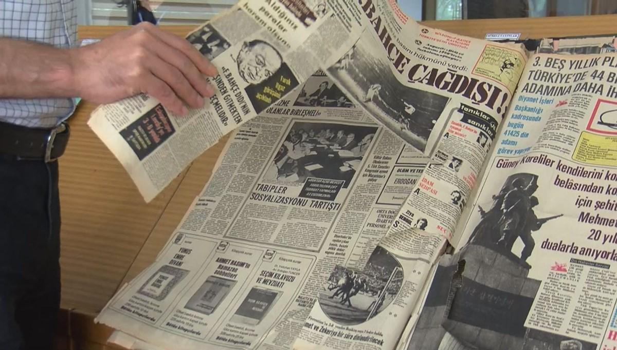 Atatürk Kitaplığı'ndaki tarihi gazete nüshaları kesildi