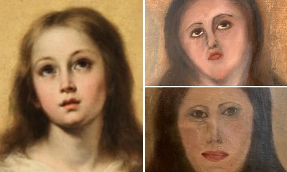 400 yıllık sanat eseri restorasyon çalışmasıyla tanınmaz hale geldi - 2