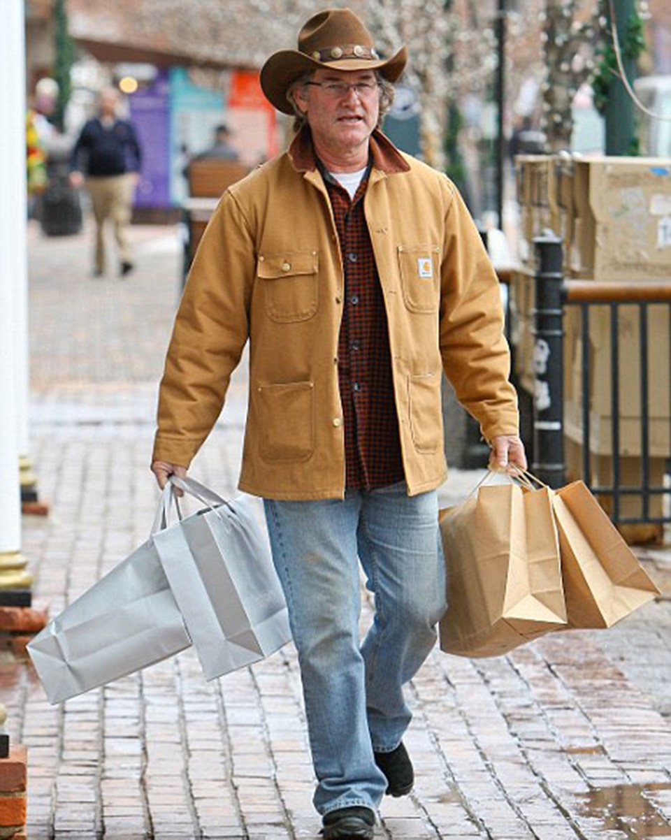 Kurt Russell Aspen'de alışverişte
