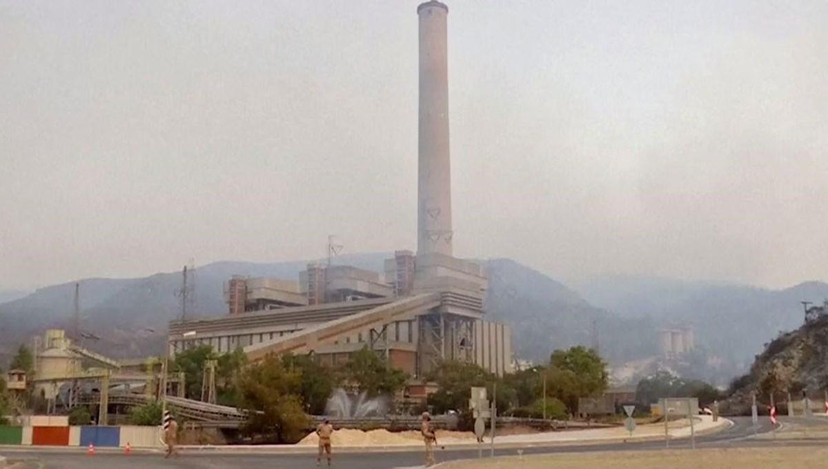 NTV ekibi yangın bölgesinde: Termik santralde yangın 11. saatte söndü