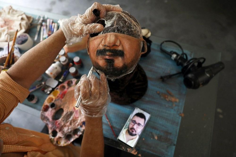 Brezilyalı sanatçıdan insanların yüzlerini gerçekçi bir şekilde tamamlayan maskeler - 1