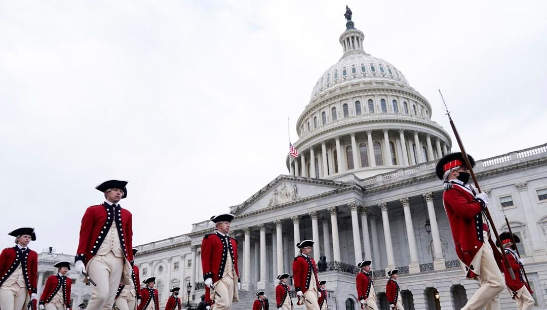 ABD Kongre binasında verilen alarm kaldırıldı (Joe Biden'ın yemin töreni provası yarım kaldı)