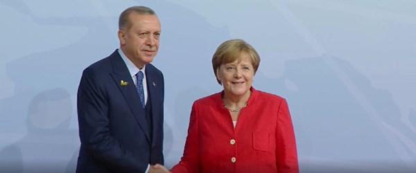 Cumhurbaşkanı Erdoğan, Merkelile görüştü