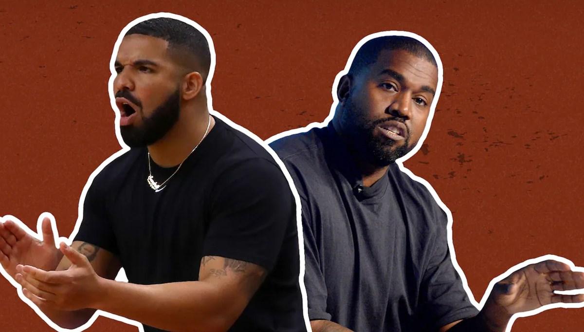 Kanye West devasa reklam panolarıyla Drake'e 'diss attı'