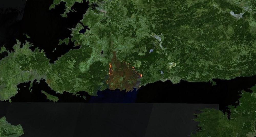 Orman yangınları uydudan böyle görüntülendi - 4